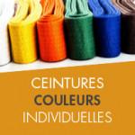 CEINTURES COULEURS INDIVIDUELLES
