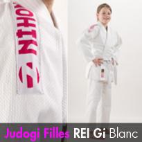 Judogi Filles REI Gi Blanc